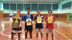 第43回 仲村寛市杯 沖縄県高校新人シングルスバドミントン選手権大会